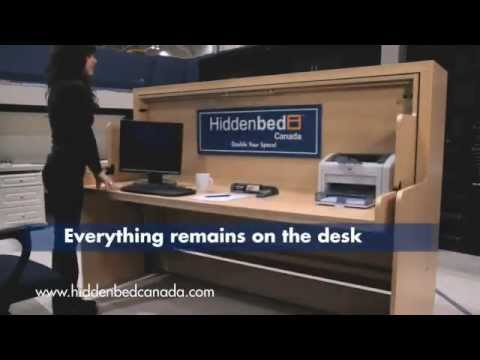 Unique 2-in-1 Desk-Bed By HIDDENBED