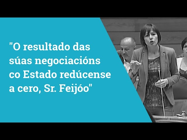 """Ana Pontón """"O resultado das súas negociacións co Estado redúcense a cero"""""""