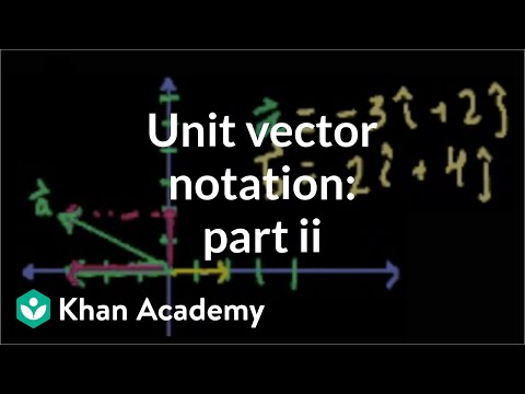 Unit vector notation (part 2) | Two-dimensional motion | Physics | Khan Academy