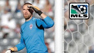 Matt Pickens from the Colorado Rapids makes huge saves against DC United
