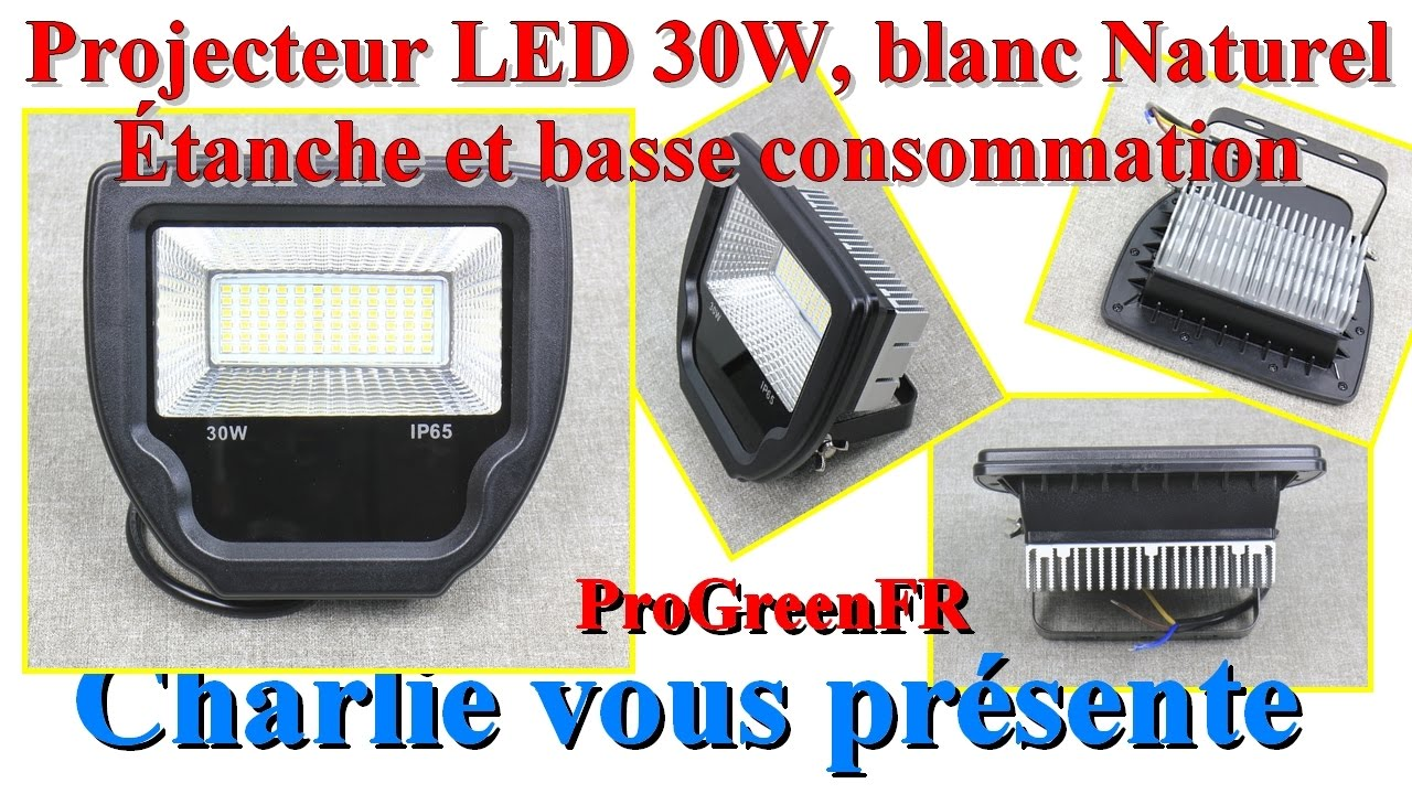 projecteur led tr s puissant pour clairage int rieur et ext rieur progreen youtube. Black Bedroom Furniture Sets. Home Design Ideas