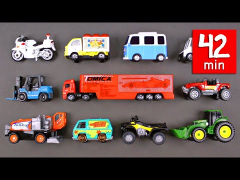 Cars Trucks Street Vehicles for Kids (42 Mins) - Hot Wheels Matchbox Disney - Organic Learning
