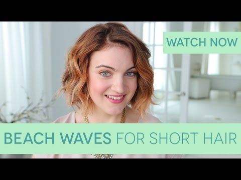 7db7e1ff6a4 How To  Beach Waves for Short Hair - YouTube