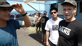 Pipeline, North Shore surfers lifestyle with Kiron Jabour the Florences and friends.
