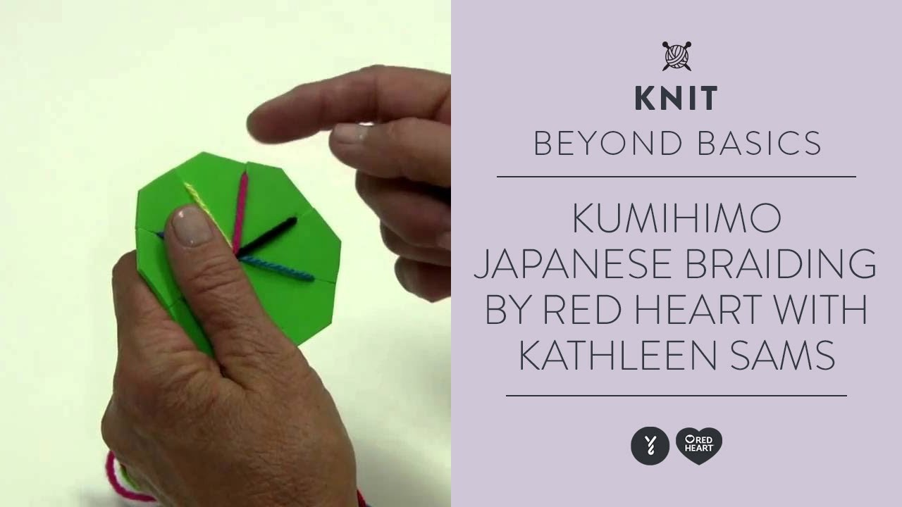 Kumihimo-Japanese Braiding by Red Heart with Kathleen Sams - YouTube