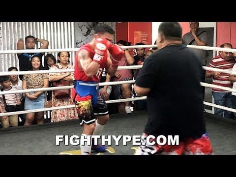PACQUIAO ON FIRE AT AGE 40 LAST DAY TRAINING IN PHILIPPINES; MOVES THURMAN CAMP TO L.A.