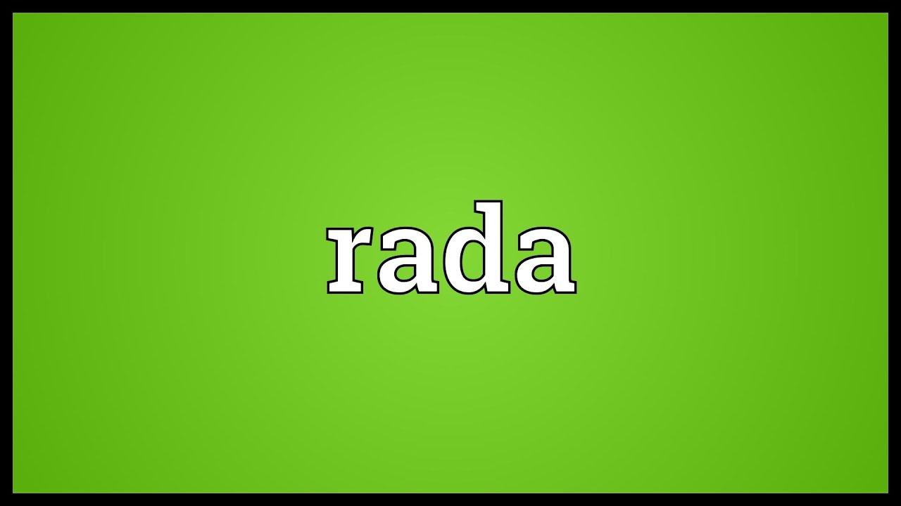 Rada: name, description, meaning 60