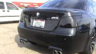 Baixar Jorge Gurgel's blacked out Bmw M5 with custom plates, Dragg City