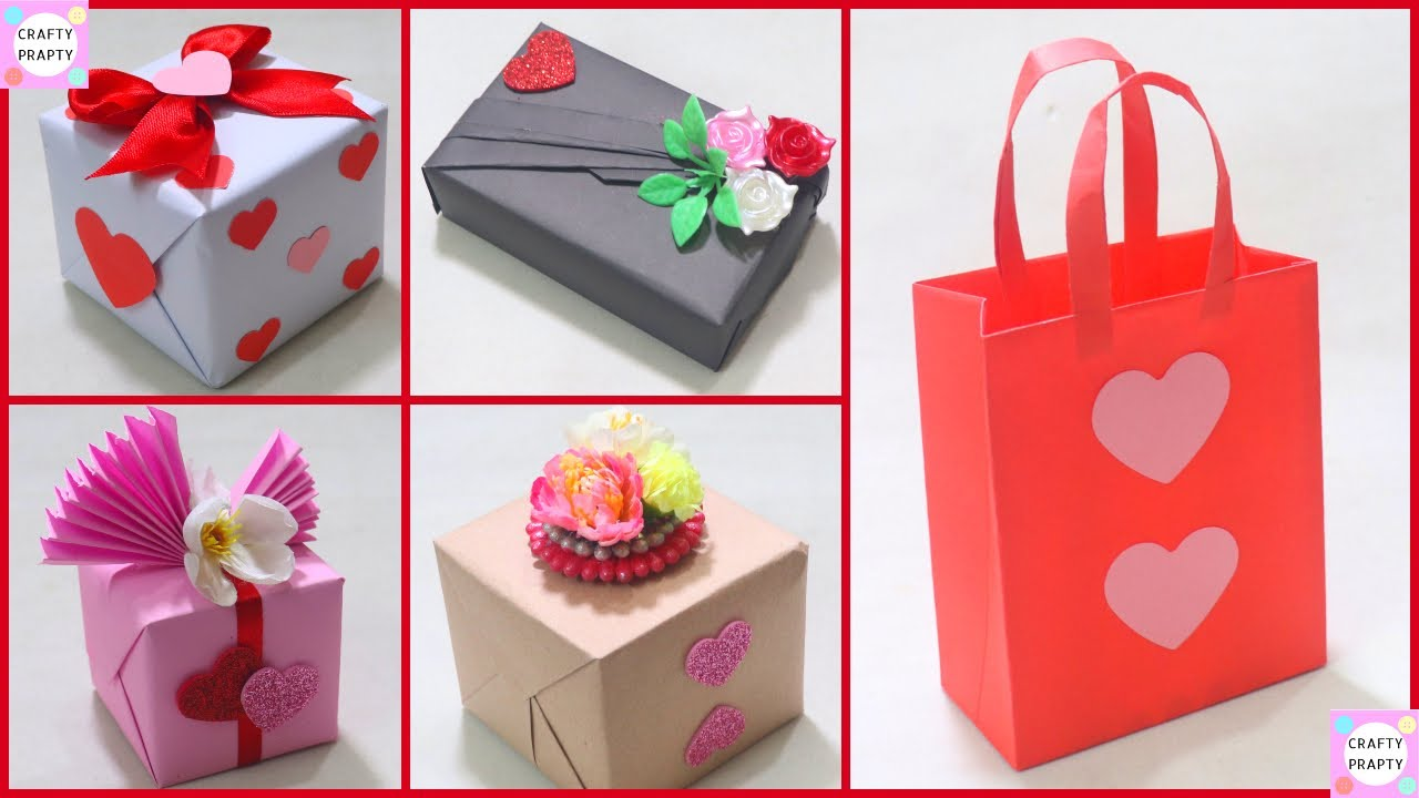 Easy Way To Wrapping Valentine Day Gift 5 Fantastic Gift Wrap Ideas Valentine S Gift Wrap Ideas Youtube