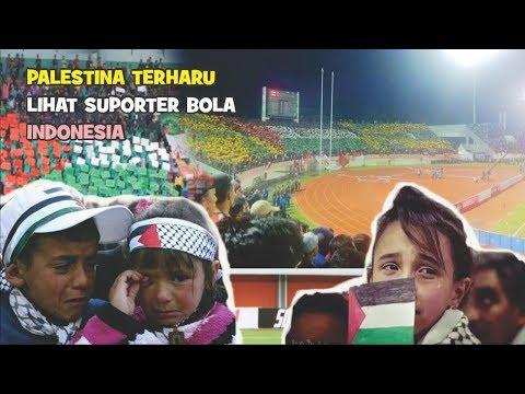 Aksi Supporter Bola Indonesia ini jika Rakyat Palestina melihatnya pasti Menangis.