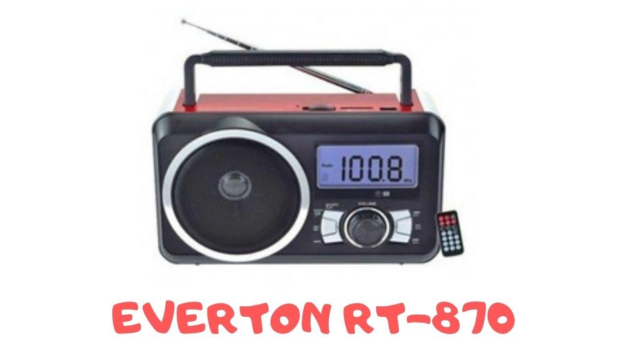 EVERTON RT-37C  (FEPE FP-910RC) FM RADIO USB/SD/TF RECORDER MUSIC PLAYER TEST VE INCELEME