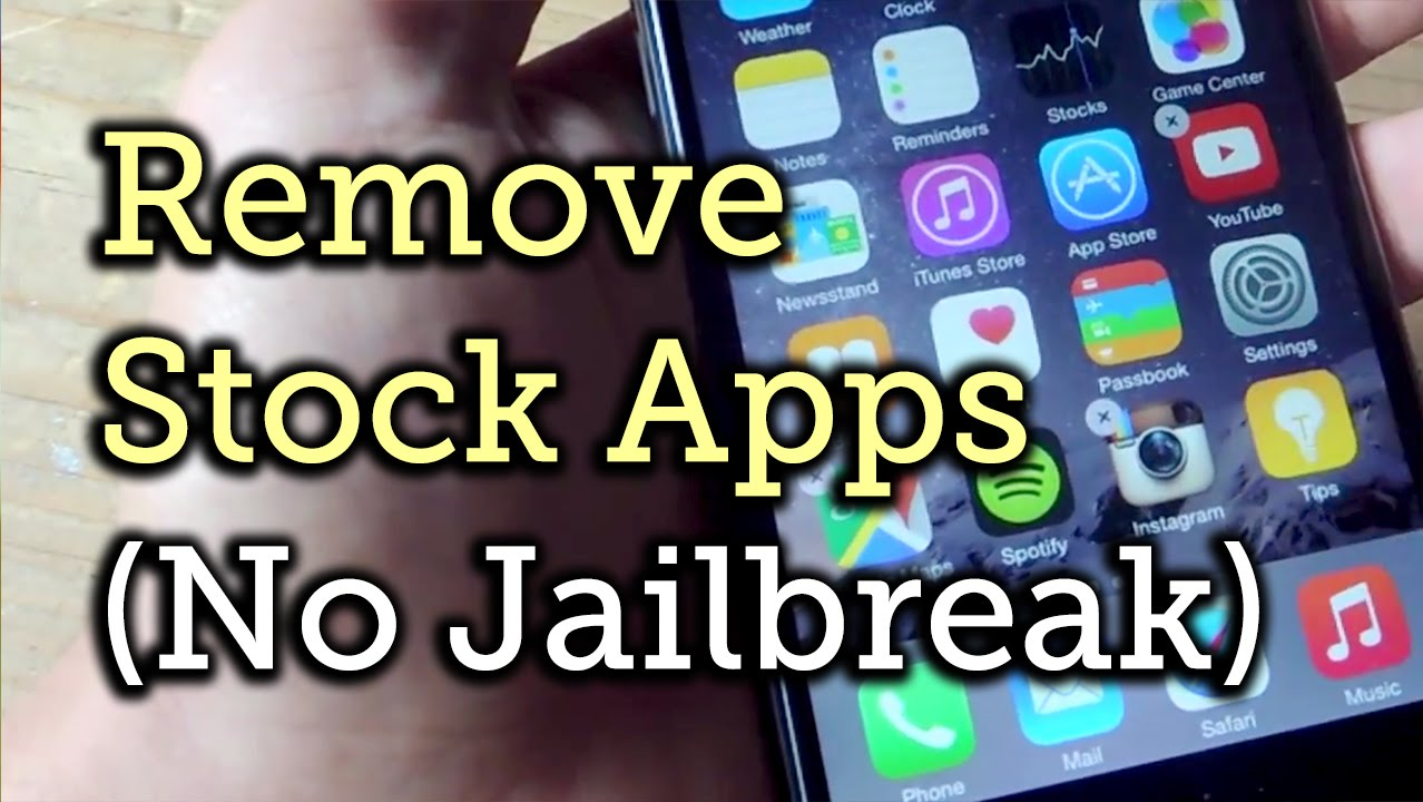 Remove Stock Ios 8 Apps Without Jailbreaking Your Iphone [howto]