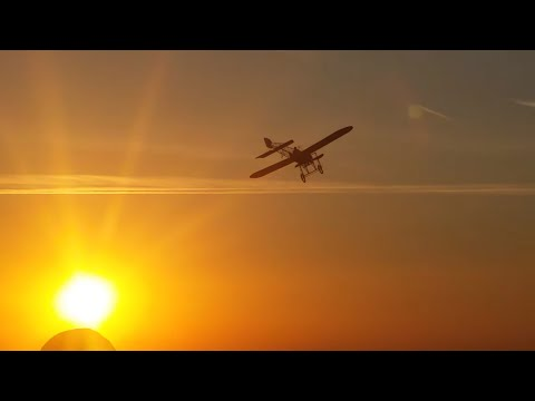 Bleriot XI Sunset Flight At Oldtimertreffen Hahnweide 2016