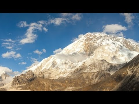 of the Mountains in Himalayas, Nepal, Everest, Nuptse | Stock Footage - Videohive