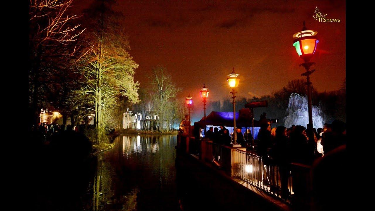 Warszawa łazienki Królewskie Zimowy Wieczór światła 2015
