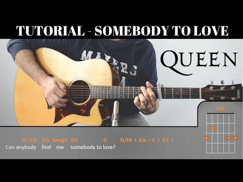 How to play Somebody to love I QUEEN I  FREE PDF | EASY Tutorial CHORDS