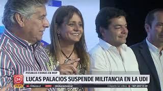 """Suspensión de militancia de Lucas Palacios evidencia """"quiebre"""" al interior de la UDI"""