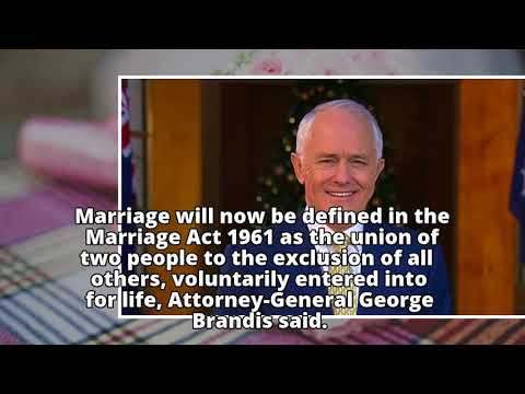 Governor-General signs Marriage Bill into royal assent
