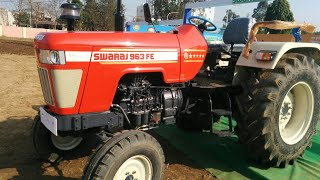 SWARAJ 963 FE 60 HP POWER S TRACTOR.aagya mele me.aalu farm modipuram.MEERUT.