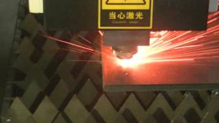 12mm Carbon Steel Cut by 1000W Fiber Laser Cutting Machine