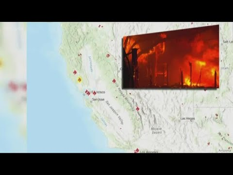 California: Maria fire north of Los Angeles spreads rapidly overnight