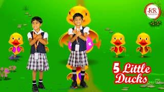5 Little Ducks | RR International School CBSE | Kids Song