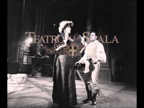 Tosca (act I) - di Stefano, Tebaldi [1959, La Scala]