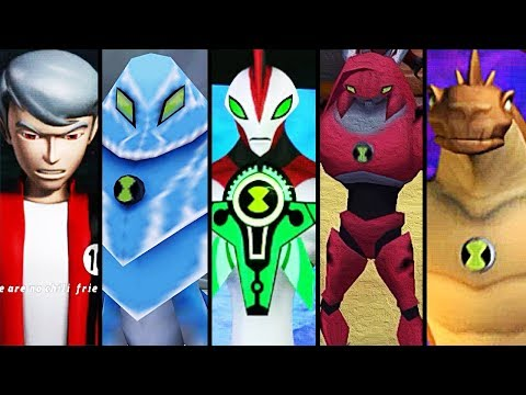 Ben 10 Ultimate Alien: Cosmic Destruction - Todos Personagens/All Characters (PS2)