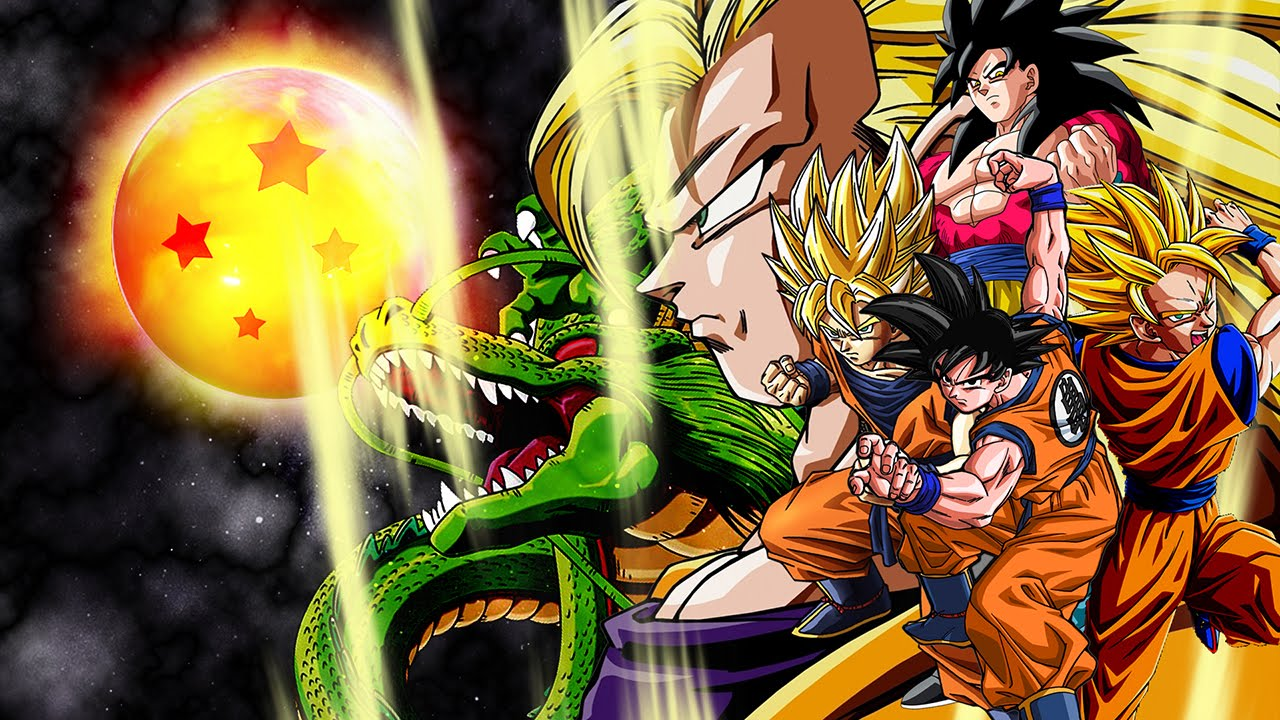 dragon ball z gt all forms transformations and