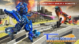 Futuristic Euro Train Transformation Robot War 3D (By Minja Studio) | Android Gameplay