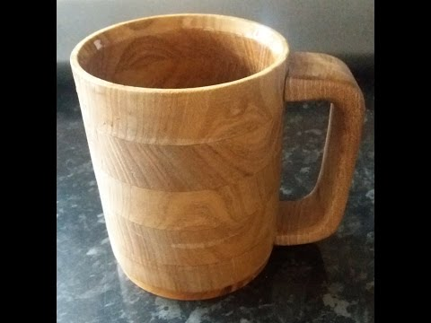 WOODEN MUG WITH FOOD SAFE EPOXY RESIN INFILL Pt1