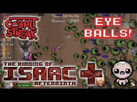 Afterbirth+ Eden Streaks: 12-0 - Eyeballs! - Cobalt Streak