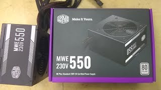 Cooler Master MWE 550 Watt 80+ Power Supply Unboxing