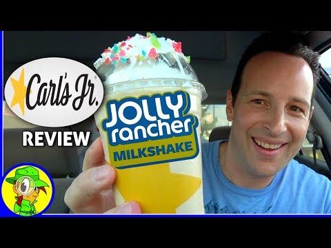 Carl's Jr.® | Jolly Rancher® Milkshake Review! 🍬🥛