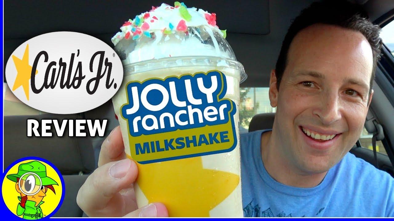 Carls Jr Jolly Rancher Milkshake Food Review Youtube