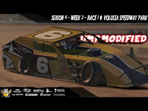 iRacing DIRTcar UMP Modifieds Week 3 Race 1 @ Volusia Speedway Park