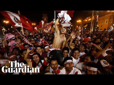 Fans in Lima celebrate Peru reaching World Cup finals