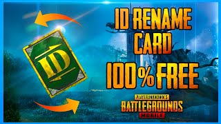EASY WAY TO GET FREE ID RENAME CARD - HOW TO GET FREE ID CARD IN PUBG ( PUBG MOBILE )
