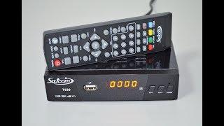 Satcom T530 IPTV - надійний тюнер Т2 з інтернет-додатками - відеоогляд (розпакування)