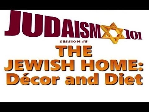 The jewish home decor diet kosher rabbi michael for Kosher home