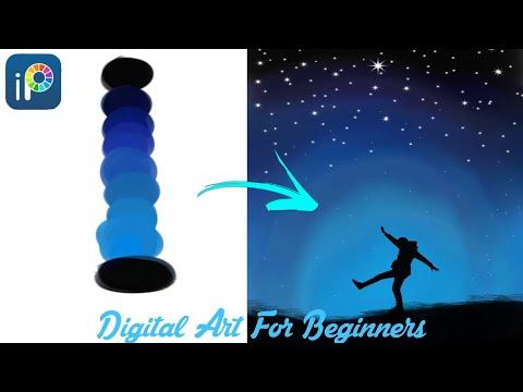 Digital Art For Beginners | Digital Art Tutorial In Mobile Phone | Ibispaintx Tutorial