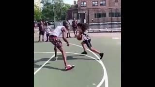 Little Girl Breaks Grown Mans Ankles in 1v1 Basketball
