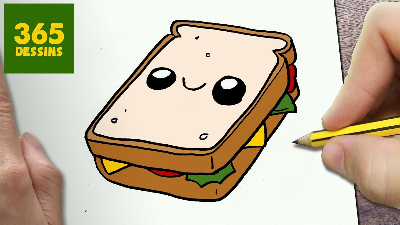 MENT DESSINER SANDWICH KAWAII éTAPE PAR éTAPE – Dessins kawaii facile