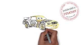 РИСУЕМ МУЛЬТФИЛЬМ ТАЧКИ  Как нарисовать тачку поэтапно карандашом(Смотреть как нарисовать тачки онлайн из мультфильма Тачки очень интересно. http://youtu.be/59AT9nUaIAc Видео рассказыв..., 2014-09-12T18:44:14.000Z)