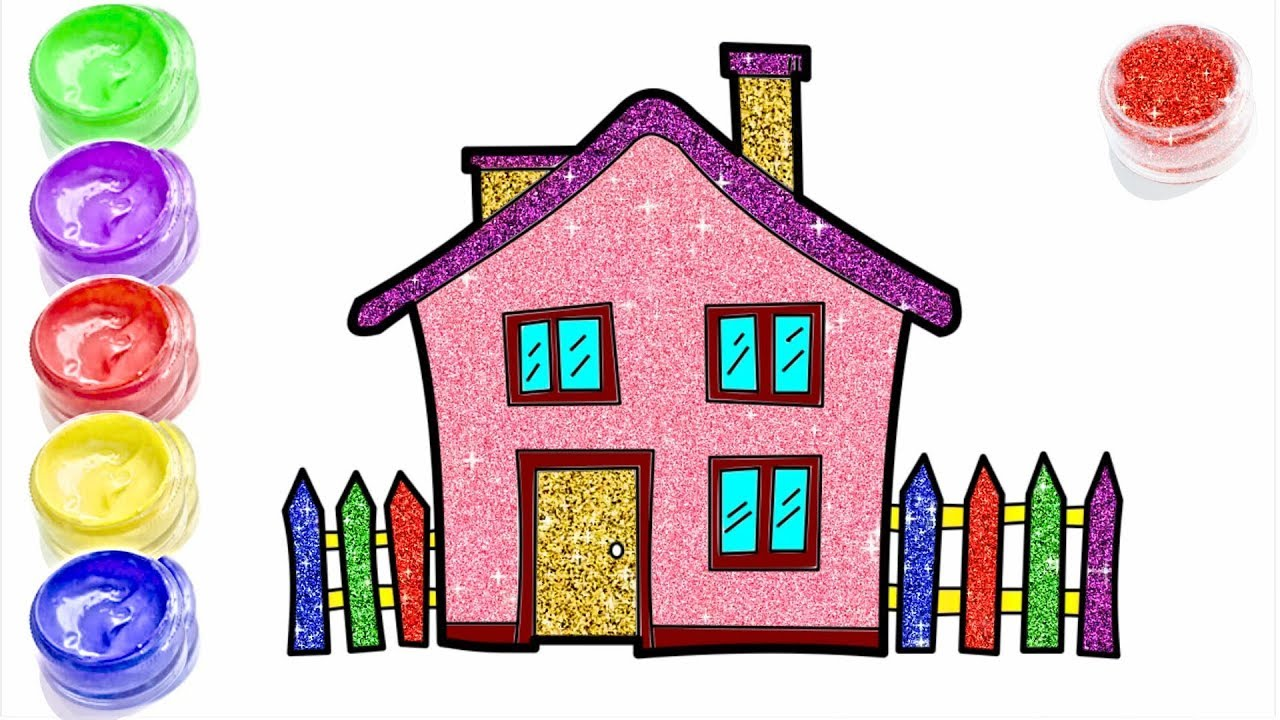 GLITTER FARMER HOUSE | HOW TO DRAW CARTOON FARMER HOUSE | LEARN ...