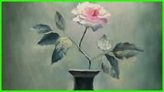 Урок живописи маслом Александра Южакова Роза