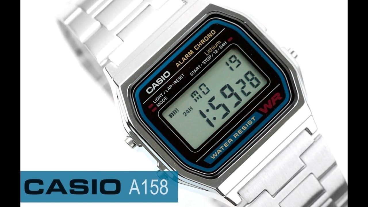70e3d008d17d Reloj Casio Retro Vintage A158 - www.CompraFacil.mx - YouTube