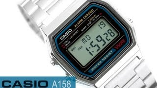 Reloj Casio Retro Vintage A158 - www.CompraFacil.mx