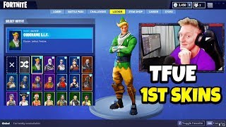 Tfue His FIRST Skin Collection | Nog Ops, Renegade Raider, Black Knight, Christmas Skins & More!