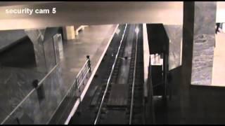 Ghost Metro Train in Moscow - Metro Station Polezhayevskaya.